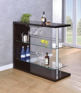 Two-Shelf Contemporary Capp. Bar Unit