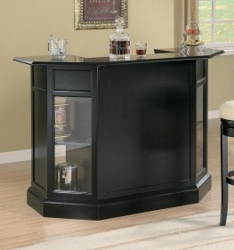 100175 - Contemporary Black Bar Unit