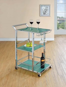 Industrial Turquoise Serving Cart
