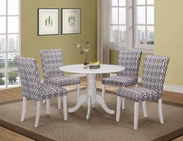 Dorsett Country Casual White 5-Pc. Dining Set
