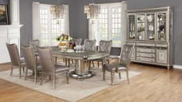 Danette Metallic 5 Pc. Double Pedestal Set