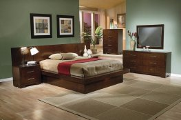 Jessica Dark Capp. King Platform Bed