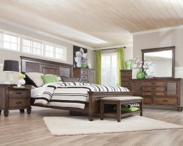 Franco Burnished Oak E. King Bed