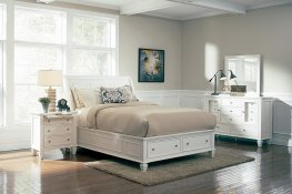 Sandy Beach White Cal. King Sleigh Bed