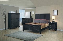 Sandy Beach Black E. King Storage Bed