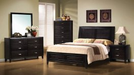 Nacey Dark Brown E. King Bed