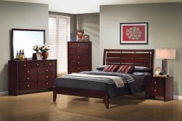Serenity Rich Merlot Cal. King Bed