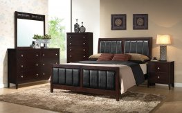 Carlton Transitional Capp. Cal. King Bed