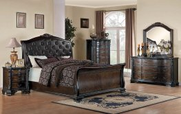 Maddison Brown Cherry Cal. King Bed