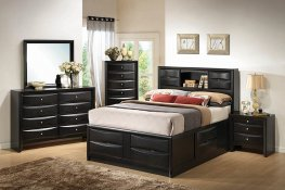 Briana Transitional Black Cal. King Bed
