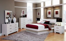 Jessica White Queen Bed
