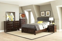 Jaxson Transitional Capp. Cal. King Bed