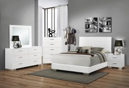 Felicity Glossy White E. King Bed
