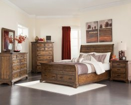 Elk Grove Rustic Vintage Bourbon E. King Bed
