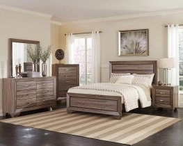 Kauffman Washed Taupe Queen Bed