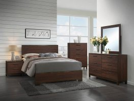 Edmonton Rustic Tobacco Cal. King Bed