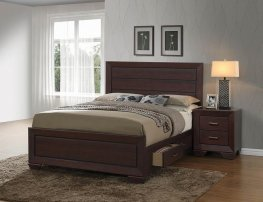 Fenbrook Dark Cocoa E. King Bed
