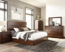 Artesia Industrial Dark Cocoa Cal. King Bed