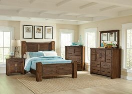 Sutter Creek Rustic Vintage Bourbon Cal. King Bed