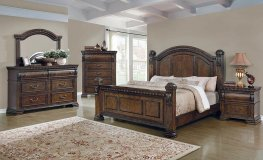 Satterfield Traditional Warm Bourbon E. King Bed