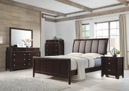 Madison Merlot and Taupe Grey E. King Bed