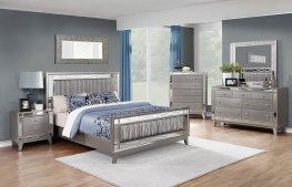 Leighton Contemporary Metallic E. King Bed