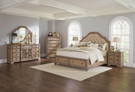 Ilana Antique Linen Cal. King Storage Bed
