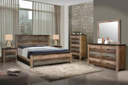 Sembene Rustic Antique Multi-Color E. King Bed