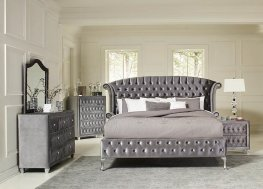 Deanna Contemporary Metallic Cal. King Bed