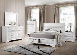 Miranda White E. King Storage Bed