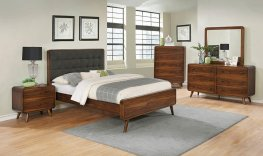 Robyn Mid-Century Dark Walnut E. King Bed