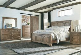 Florence Traditional Rustic Smoke E. King Bed