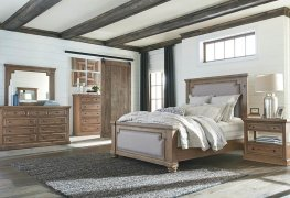 Florence Rustic Smoke and Grey E. King Bed