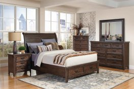 Ives Traditional Antique Mink Queen Bed
