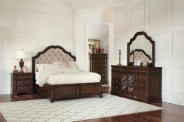 Ilana Traditional Antique Java Cal. King Bed