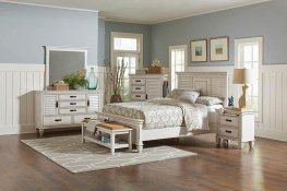 Franco Antique White Cal. King Bed