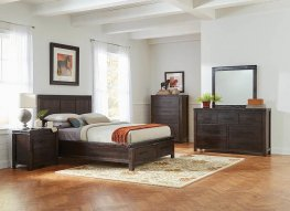 Rustic Barn Door Grey E. King Storage Bed