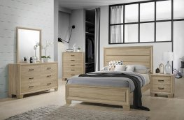 Vernon Whitewashed Oak E. King Bed