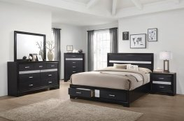 Miranda Contemporary Black Cal. King Bed