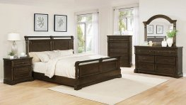 Traditional Heirloom Brown Cal. King Bed