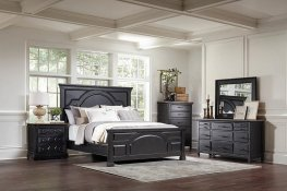 Traditional Rustic Latte Cal. King Bed