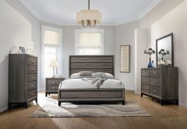 Rustic Grey Oak E. King Bed