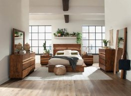 Rustic Smoky Walnut E. King Bed