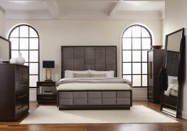 Smoked Peppercorn E. King Panel Bed