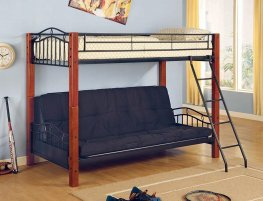 Collins Collection Cinnamon and Black Bunk Bed