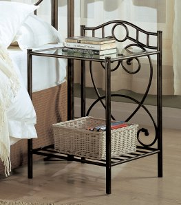 Violet Metal Nightstand