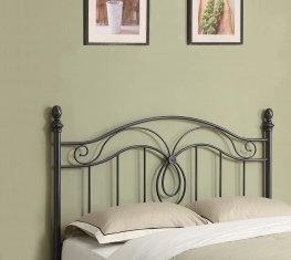 Gunmetal Iron Headboard