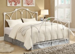 Scarlett White Metal Queen Bed