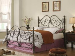 London Dark Bronze King Metal Bed