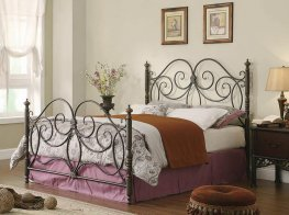London Dark Bronze King Headboard